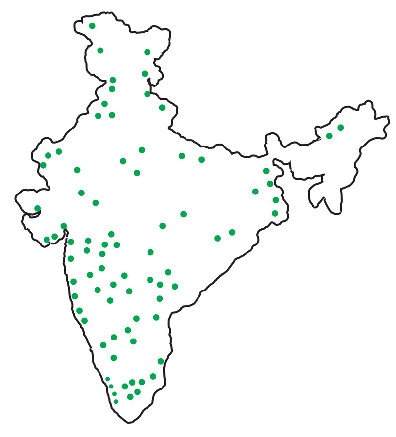 Hydropack India clientele map