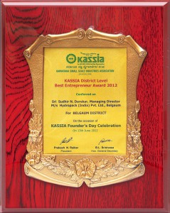 KASSIA award for Hydropack India