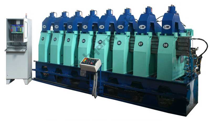 Hydraulic 8 Heads Coil Curing Press