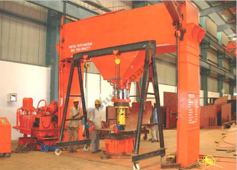 Hydropack India Pvt  Ltd  Hydraulic Portal Press Of 300 Ton Capacity